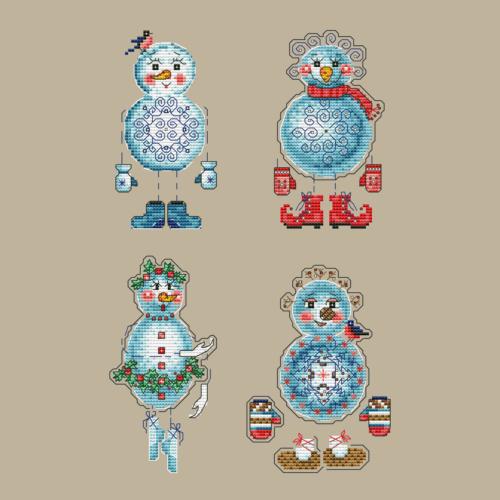 Милые снеговички все